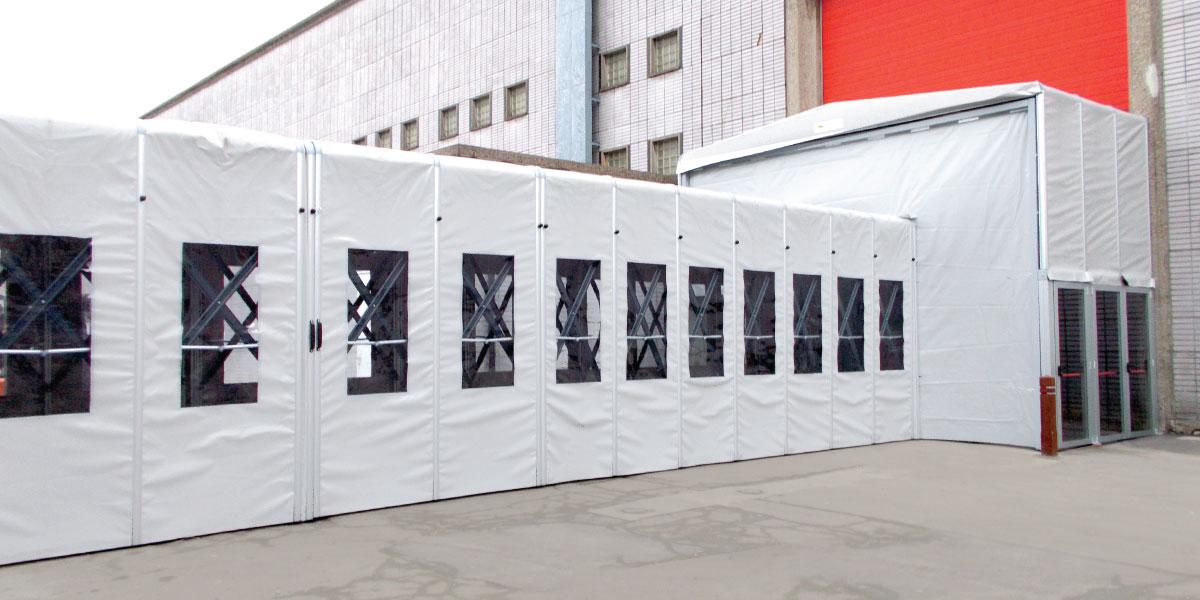 Mobile Lagerzelt