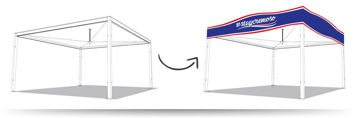 Moderner Pavillon mit Flachdach