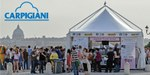 Pavillon mit Carpigiani-Logo