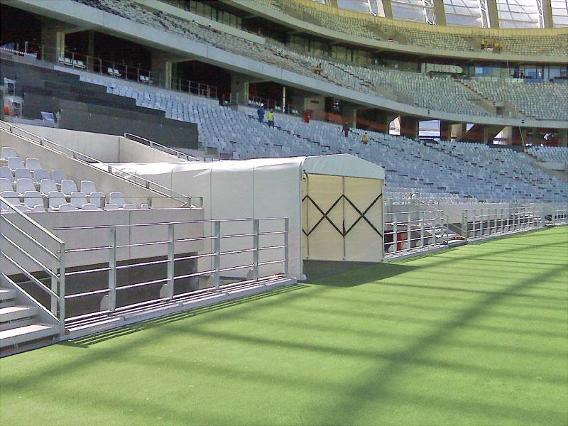 Tunnel für den Eintritt von Fußballspielern - FIFA World Cup