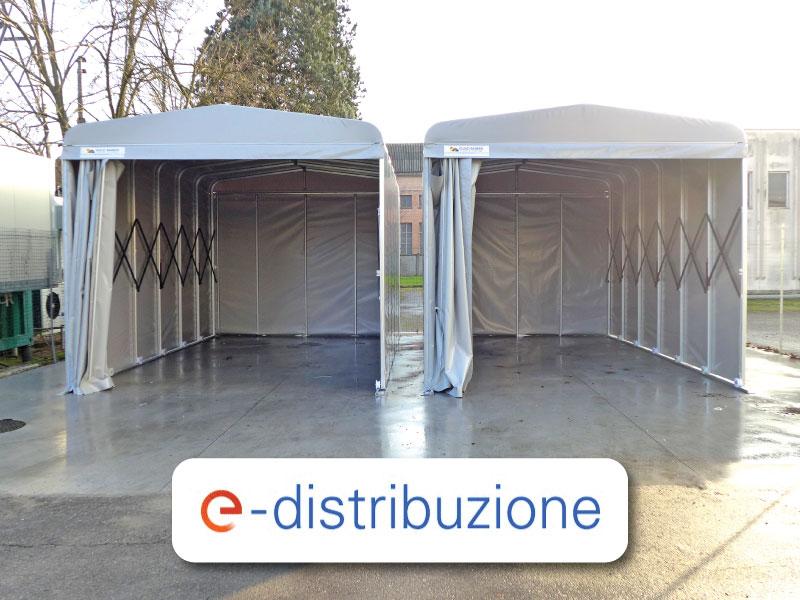 Zelthalle den italienischen Strom- und Gasverteiler von Enel