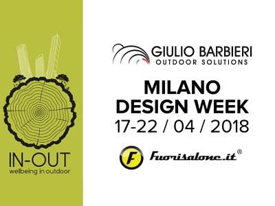 Das Aluminium Pergolen und Sonnensegel Giulio Barbieri srl im Milan Fuorisalone