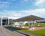 Carport aus Aluminium für Firmenparkplätze Pensilauto