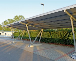 Carport aus Metall Pensilauto Middle