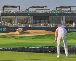 Beschattungspergola für Golfschläger