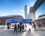 Wasserdichter Pavillon für eine Veranstaltung in Gae Aulenti, Mailand - Artena Srl
