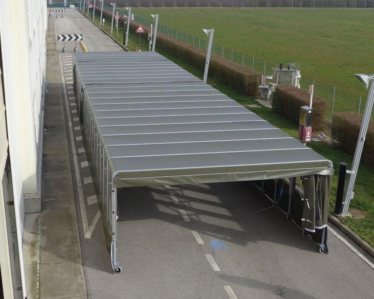 Mobile halle für die Italienische Luftwaffe