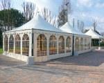 Pagodenzelt für das Restaurant La Cicala - Noale