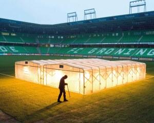 Agrarzelt für Fußballplätze in Bembridge (UK)