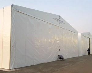 Zelthalle für die Feuerwehr von Rom