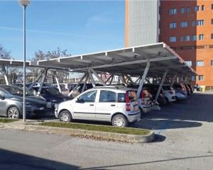 Solar carport  für das Krankenhaus von Ravenna