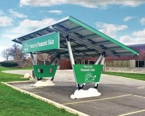 Solarcarport freistehend - Panasonic - Renewz, Canada