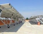 Solarcarport für den Supermarkt