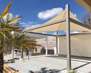 Pergola mit aufrollbarem Sonnensegel für Proverbio Outdoor Design