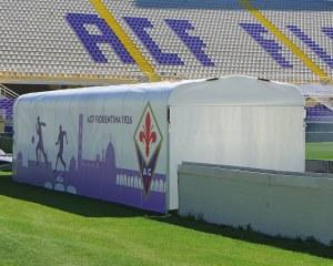 Spielertunnel beim Artemio Franchi Stadion in Florenz