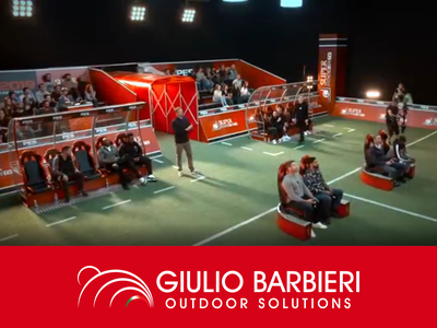 Die Spielertunnel und Verbindungstunnel von Giulio Barbieri sind Protagonisten beliebter asiatischer Fernsehsender.