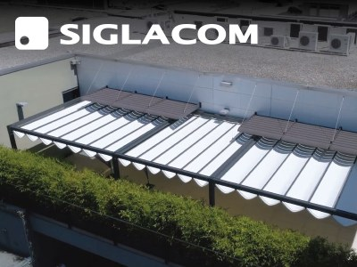 Eine schattenspendende Abdeckung für das Internetunternehmen Siglacom