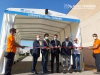 Erster kostenloser Desinfektionsdienst für Kranken- und Polizeiwagen in Cento