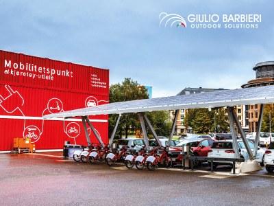 Oslo, die grüne Hauptstadt Europas 2019, beherbergt Solarcarports von Giulio Barbieri