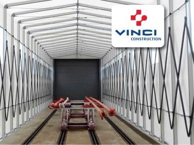Solumat Vinci Construction wählt die Giulio Barbieri-Tunnel für seine Produktionsstätten