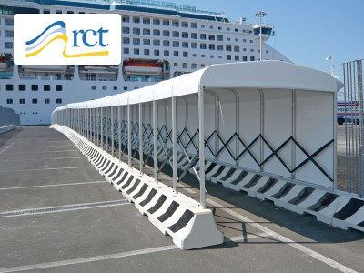 VERBINDUNGSTUNNEL an den Hafen von Civitavecchia