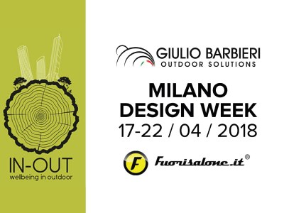 "Giulio Barbieri outdoor canopies at the ""Fuorisalone"" in Milan (Itlay)"