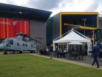 Our professional marquees at the DSEI Show in London.