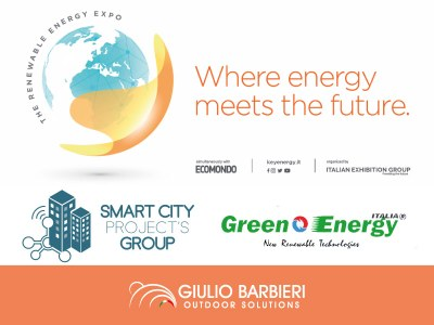 The bike charger and the solar carport by Giulio Barbieri make an appearance at Key Energy 2019 in Rimini