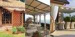 Pergolas made of wood, iron or aluminum