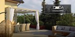 Pergola with retractable awning - Onda