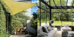 Sun shade sails and verandas