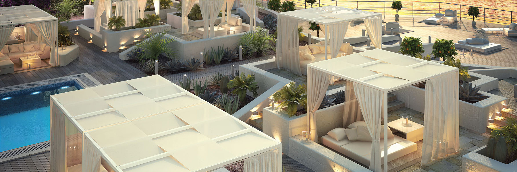 OUTDOOR CANOPIES FOR RESORT AND HOTELS