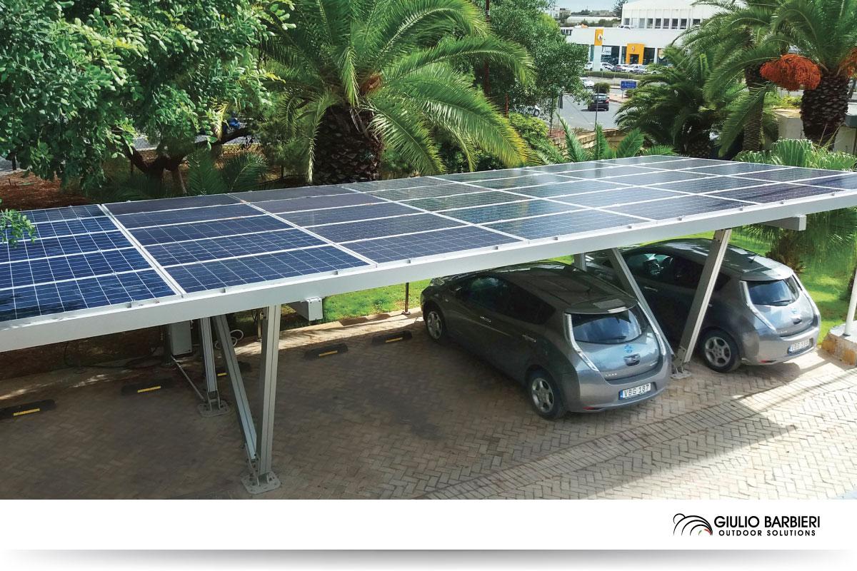 Aluminium solar carport