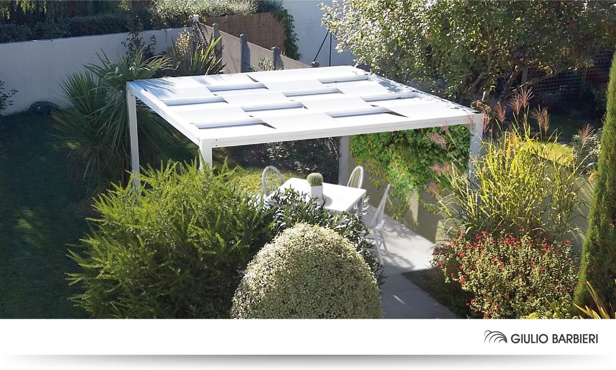 Outdoor aluminium canopies for the garden