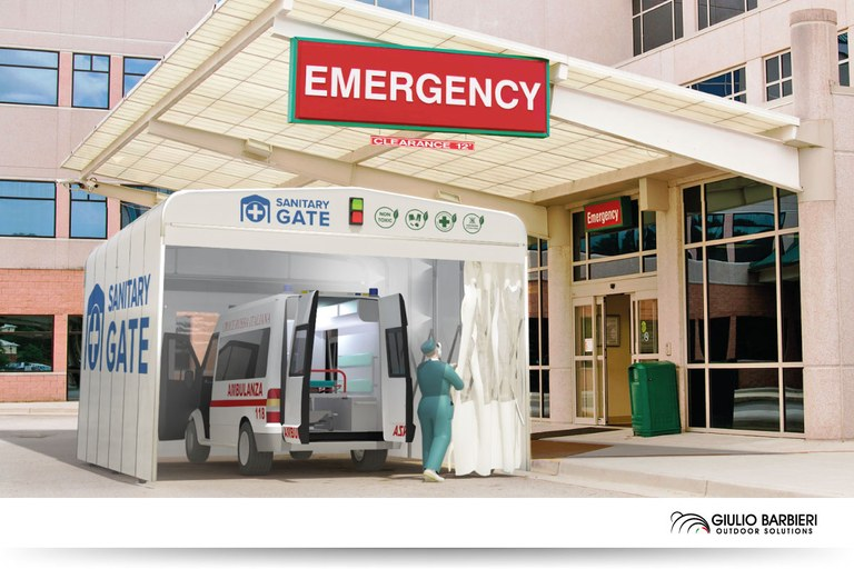 Sanitary Gate – Tunnel for hygienisation and sanitisation for ambulances