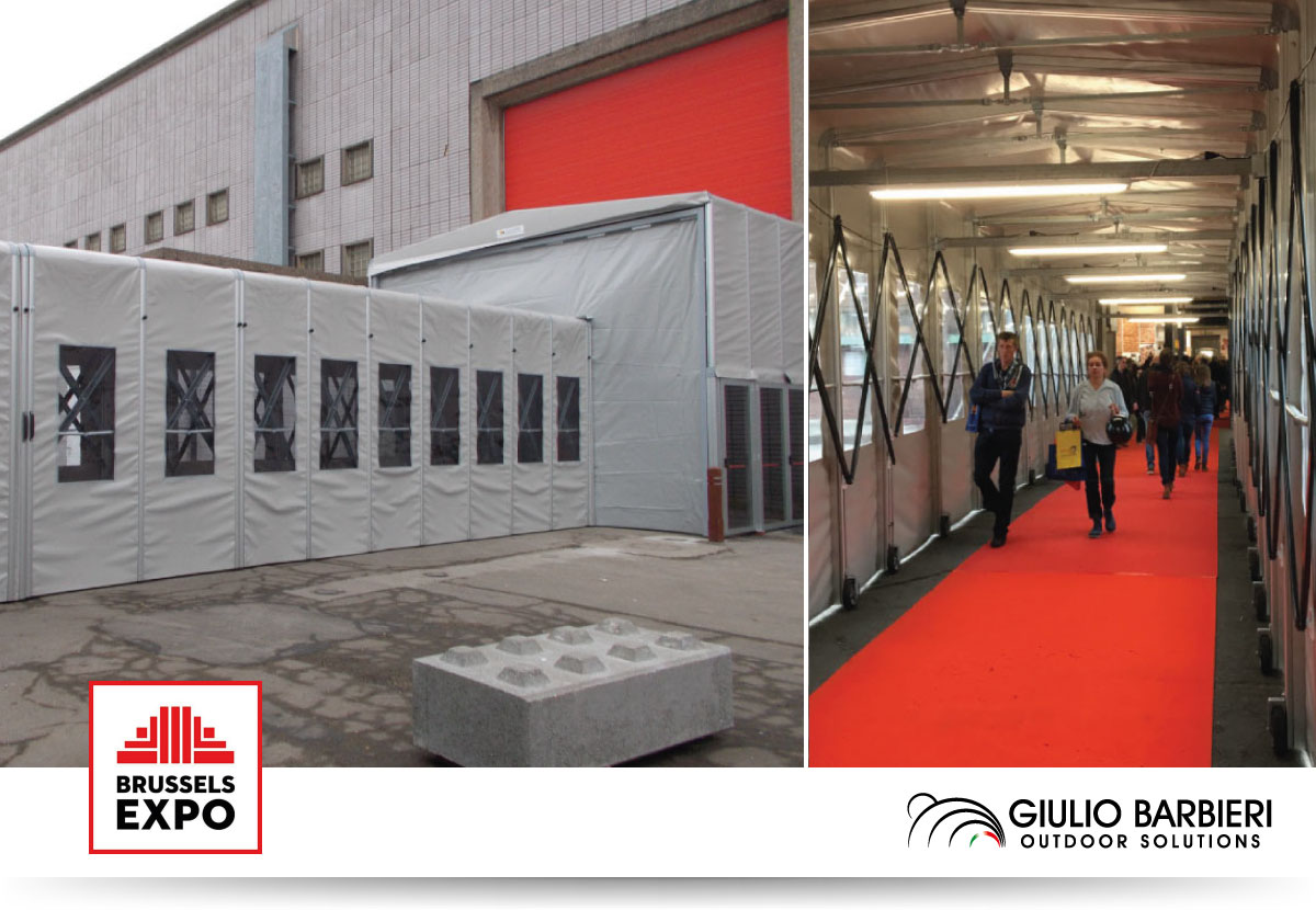 Loading bay and retractable canopy - Brussels Expo 2016