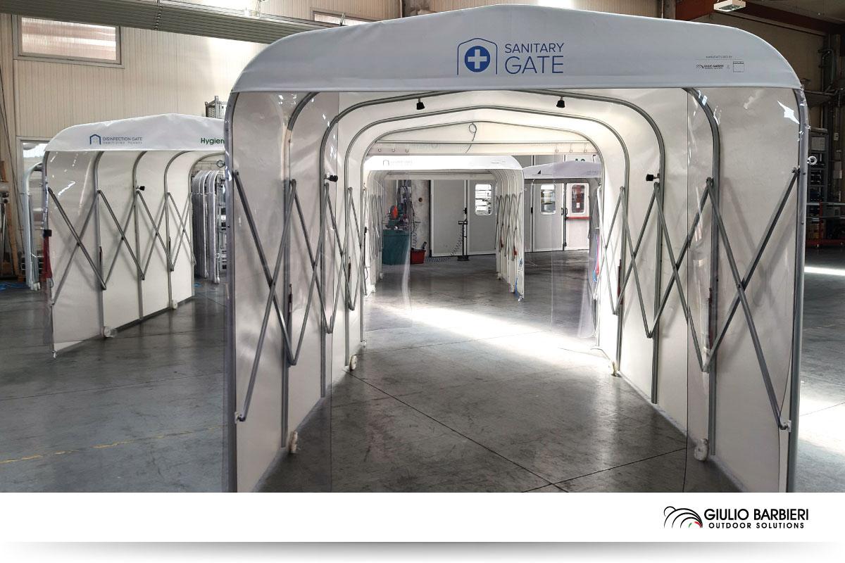 "Sanitizing tunnel ""Sanitary Gate"" by Giulio Barbieri"