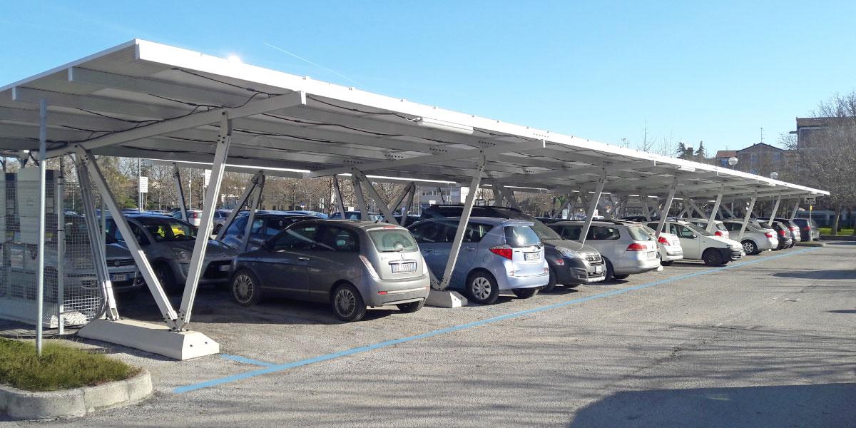 Aluminum solar carport for 2 to 6 cars