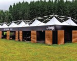 Branded gazebo for the Jeep Camp 2018 event