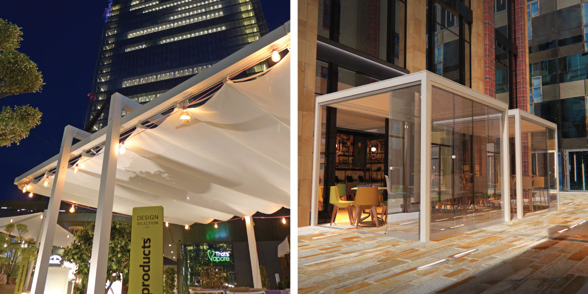 Retractable cantilevered roof