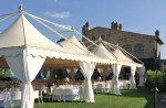Aluminium marquees for events