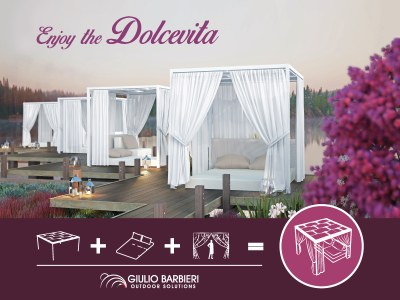 Add a touch of Italian style to your outdoors and enjoy the Dolcevita!