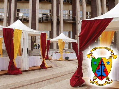 Africa - Giulio Barbieri S.p.A. in Cameroun: 330 party tents at the presidential palace