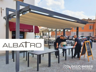 Albatro, the retractable awning loved by public administrations