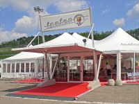 Europe - Giulio Barbieri Marquee tents as Hospitality Area at the Prestigious 2009 Abarth 500 Trophy