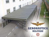 Giulio Barbieri as official supplier for the Italian Air Force's temporary buildings