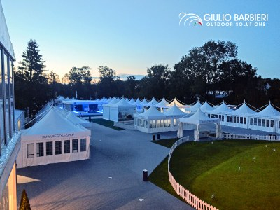 Giulio Barbieri's event tents at the BMW International Open 2019