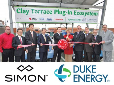 Indiana - Charging station for the giants Simon Property Group and Duke Energy