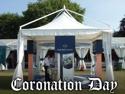 UK - Buckingham Palace prefers the Giulio Barbieri's marquees for the Coronation Festival