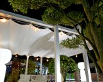 Retractable awning for Wellbeing in Outdoor at Fuorisalone in Milano